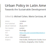 Urban Policy in Latin America. Towards the Sustainable Development Goals?